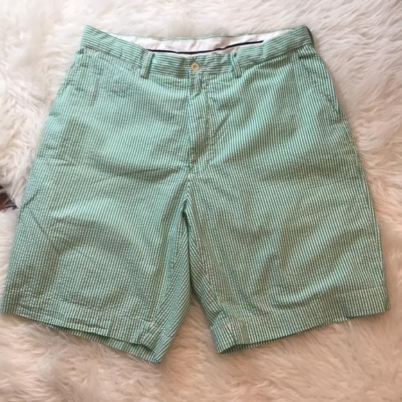 Ralph Lauren Shorts Mens Green Seersucker Poshmark